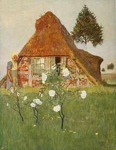 <1903 Heinrich Vogeler (German painter, designer, architect; 1872-1942) ~ 'Abendsonne im Moor'