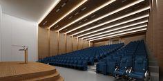 Dance Hall Architecture, Auditorium Architecture, Auditorium Design, Architecture Design, Entrance Design, Hall Design, Space Interiors, Office Interiors, Hall Interior