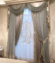 Trends you need to know swags and tails curtain treatment 9 – fugar.sepatula Trends you need to know swags and tails curtain treatment 9 – fugar. Fancy Curtains, Classic Curtains, Luxury Curtains, Elegant Curtains, Beautiful Curtains, Modern Curtains, Living Room Decor Curtains, Home Curtains, Curtains With Blinds