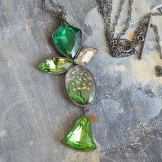 Green Heritage Necklace. Grainne Morton for Swoon-Lounge