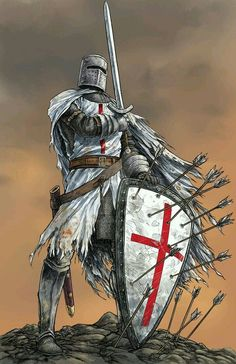 Discover Knight Templar Warrior T T-Shirt, a custom product made just for you by Teespring. - Beautiful and quality Knight Templar Warrior T. Armadura Medieval, Medieval Knight, Medieval Fantasy, Fantasy Kunst, Fantasy Art, Templar Knight Tattoo, Crusader Knight, Christian Warrior, Knight Art