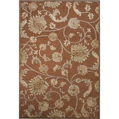 JaipurLiving Harper Rayon Chenille Brown Area Rug Rug Size:
