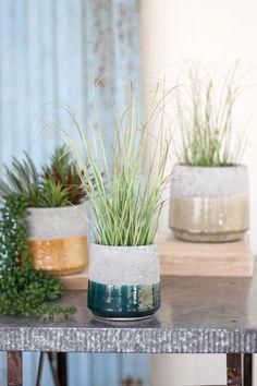 Kalalou Round Ceramic Planters - Set Of 3 Indoor Flower Pots, Indoor Plants, Ceramic Planters, Planter Pots, Hanging Planters, Brown Bathroom Decor, Interior Decorating Styles, Interior Design, Whimsical Fashion