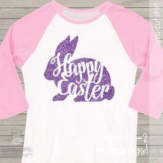 Easter glitter shirt, sparkly bunny custom raglan shirt
