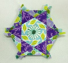 Katja's Quilt Shoppe: English Paper Pieced, Block-a-week Hex-a-thon