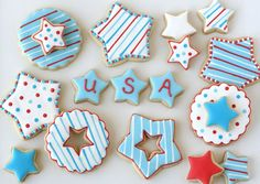 4th of July Star Cookies from @Glorious Treats