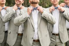 gingham bows and tan suits | Pure 7 Studios #wedding