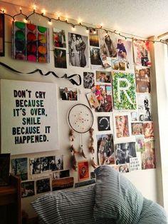 Dorm room wall