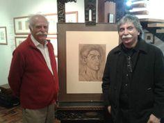 Con Iván Guzmán de Rojas, gran informático, hijo del extraordinario pintor Cecilio Guzmán de Rojas, cuyo autoretrato está al medio de nosotros.