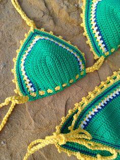 ganchillo bikini Viva Brasil  Vintage Crochet bikini de