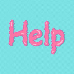 Pink Help word on a blue background vector | premium image by rawpixel.com / busbus Vector Can, Vector Free, Sticker Design, Blue Backgrounds, Free Design, Cool Designs, Doodles, Typography, Social Media