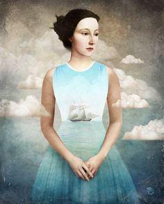 Austrian artist Christian Schloe mixing with a lot of skills painting, illustration and photography to give us a poetic and fascinating universe! With a very distinctive style and a fake old touch of classic painting, Christian schloe clouds the issue and leads us into a dreamlike world, strong in symbolic and meanings.