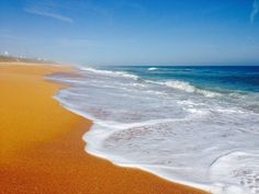 Flagler beach.  The contrast of the orange sand and the ocean is amazing.