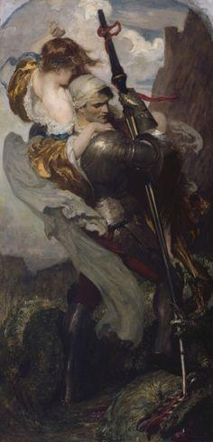 Solomon Joseph Solomon, R.A. (England, 1860 – 1927) - Saint George, c.1906. Royal Academy of Arts