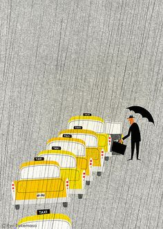 Taxi que in the rain, Ryo Takemsa//