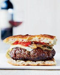 Chianti Burgers with Caramelized Onions Recipe