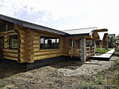 www.lakecountrylog.com  Handcrafted Douglas Fir Log Cabin build by Lake Country Log Homes in Alaska