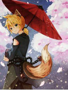 Kết quả hình ảnh cho kagamine len indigo fox