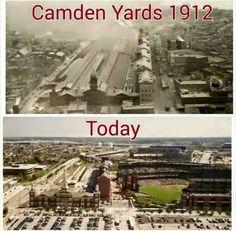 Camden Yards and Today Baltimore,Md. Baltimore Orioles Baseball, Baltimore Maryland, Baltimore Ravens, Towson University, Camden Yards, Baseball Park, Chesapeake Bay, Ocean City, Vintage Photographs