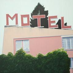 Motel à Bevaix, 2012, acryl sur toile, 100x100cm
