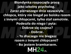 Blondynka rozpoczęła pracę jako szkolny psycholog… – MH24.PL – Demotywatory, Memy, Śmieszne obrazki i teksty, Filmiki, Kawały, Dowcipy, Humor Wtf Funny, Funny Memes, Im Mad, Old Memes, Write It Down, Good Jokes, Really Funny, Texts, Haha