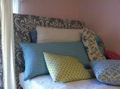 The Old Post Road: Easy Dorm Room Headboard Tutorial