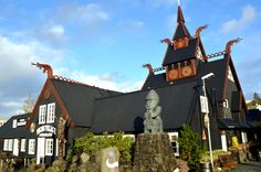 The Viking Village in Hafnarfjörður Town - near Reykjavik, yummy Viking restaurants in this town too. Iceland Viking, Vikings, Travel Around The World, Around The Worlds, Viking Village, Iceland Photos, World View, Iceland Travel, Travel Abroad