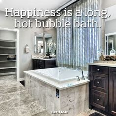 Happiness is a long, hot bubble bath. #happiness
