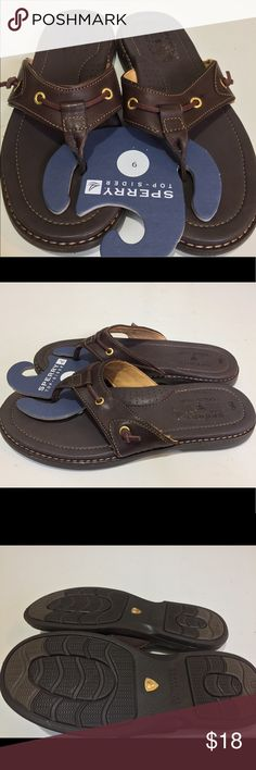 New Sperry Top Sider Men Sandals Brown famous sperry design. New. Never worn. Sperry Top-Sider Shoes Sandals & Flip-Flops