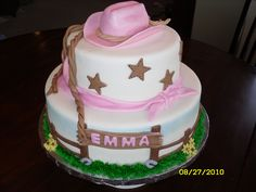 cowgirl baby shower cakes