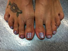Plaid Toes by TriciaBaldwin - Nail Art Gallery nailartgallery.nailsmag.com by Nails Magazine www.nailsmag.com #nailart