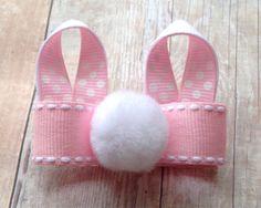 Items similar to Bunny Ears Hair bow, Bunny dog hair bow, dog hair bows, dog bows, Easter bow, infant headband, toddler hair clip, headband, FOE on Etsy