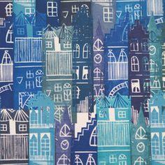 Edinburgh Cityscape Linocut Print