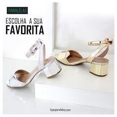 O metalizado chegou para ficar e fazer você arrasar o ano todo! #ModaPorPrecoJusto - R$ 129,99 - #VidasComEstilo #Paralelas  #modafeminina #sandalia #metalizado #dicadeestilo #sapato #moda #estilo #shoes #fortaleza #saoluis #teresina #brasil