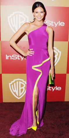 See Which Celebs Have Already Been Rocking Pantone's 2014 Color of the Year: Radiant Orchid - Odette Annable Yustman  - from InStyle.com