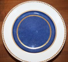 Wedgwood China Original Edme x9265 Dark Blue with Gold Laurel - Complete 96pc Set. The pattern is x9265 and has an exquisite almost cobalt blue covering most of the plate with a gold laurel around the outside of the blue. | eBay!