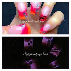 Glow in the dark nails  Styliztik nailz by sarah