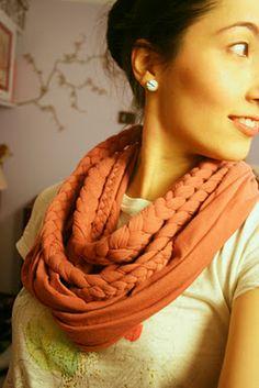 bufanda trenzada, con tutorial