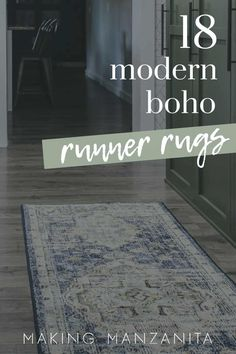 If you're looking for a new rug for your kitchen, bedroom, bathroom or laundry room - you'll love this round up! Check out these modern boho runners! #rug #rugs #long #runner #modern