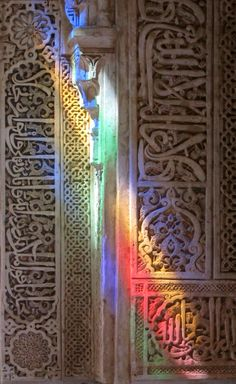 A travel photo post about my visit to Alhambra in Granada, Spain. Islamic Architecture, Art And Architecture, Granada, Tactile Texture, Honeymoon Planning, Sacred Art, Islamic Art, Mosque, Monuments