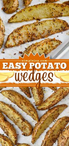 Nothing beats this 3-ingredient potato side dish! Soft in the middle with crispy edges, these easy baked potato wedges are perfect for your Thanksgiving dinner recipes. Air fryer instructions included! Thanksgiving Dinner Recipes, Easy Dinner Recipes, Appetizer Recipes, Appetizers, Easy Baked Potato, Potato Wedges Baked, Potato Side Dishes, 3 Ingredients, Recipe Using
