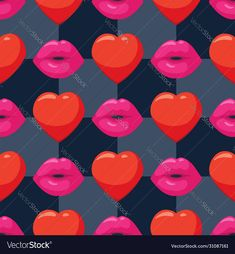 Seamless Background, Lip Art, Pink Lips, Vector Free, Hearts, Romantic, Artwork, Pattern, Image