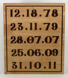 Special Dates.  Interesting possibilities. pyrographi woodburn, ma man, hobbi money, important dates, interest possibl