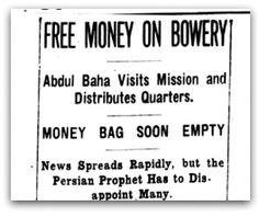 Free Money On Bowery