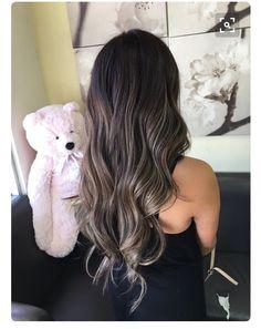 Ash blonde balayage by michelle yelp hair gölgeli saç, saç r Ash Brown Hair, Dark Hair, Dark Brown, Ash Blonde Balayage, Bayalage, Hair Color And Cut, Bleached Hair, Brunette Hair, Brunette Color