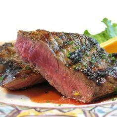 Steak with Bourbon Coffee Sauce