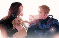 """""""Let him go."""" """"It's okay, Bucky."""" 