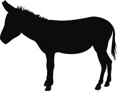 SILHOUETTE OF DONKEY   Donkey,Silhouette,Animal,Vector,Black,Clip Art,Illustration,No People ...