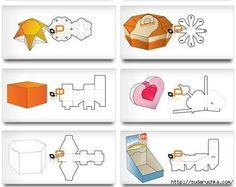 Коробочки для подарков!Изображения можно увеличить и распечатать -  это будут готовые шаблоны для ваших коробочек / Новые дети