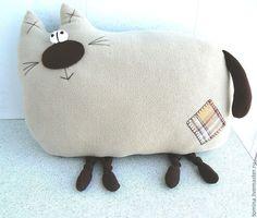 Купить Кот Диванный Друг - кот, коты, котик, мягкая игрушка, игрушка-подушка